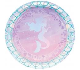 """Taldrikud """"Särav merineitsi"""" (8 tk / 17 cm)"""