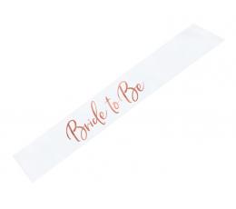 """Lint tüdrukuteõhtuks """"Bride to be"""", roosakas-kuldse kirjaga"""