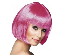 Lühikeste juustega parukas, roosa