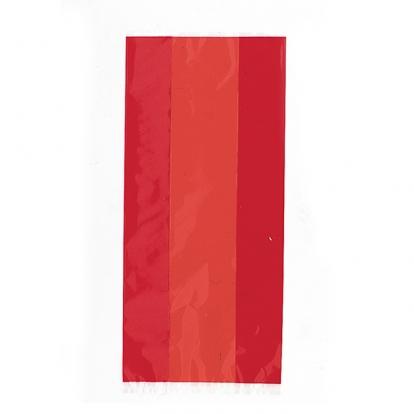 Maiustuste kotid, punane tsellofaan (30 tk)