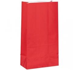 Maiustuste kotid, punased, paberist (12 tk.)