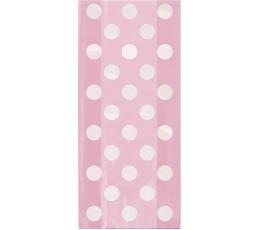 Maiustuste kotid,  roosad täppidega (20 tk.)