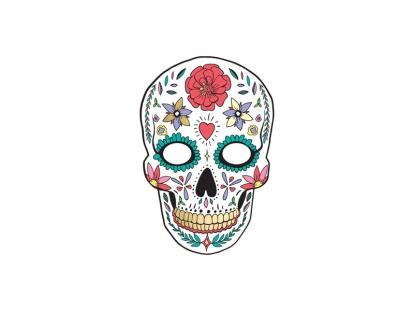"""Mask """"Dia de los Muertos"""", valge"""