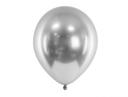 Metalliseeritud õhupall, hõbedane (30 cm)