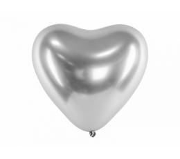 Metalliseeritud õhupall-süda, hõbedane (30 cm)
