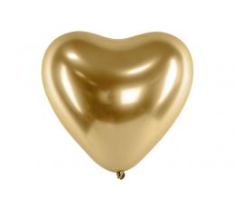 Metalliseeritud õhupall-süda, kuldne (30 cm)
