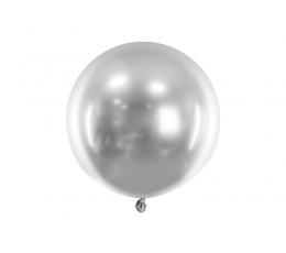 Metalliseeritud õhupall, ümmargune hõbedane (60 cm)