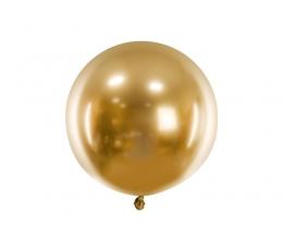 Metalliseeritud õhupall, ümmargune kuldne (60 cm)