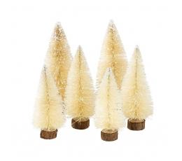 """Mini dekoratsioon - """"Jõulukuused"""" (6tk)"""