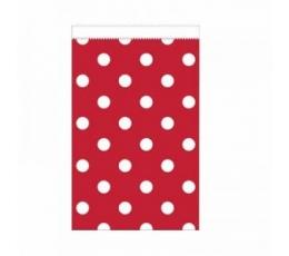 Mini kinkekotid, punased täpilised (20tk)