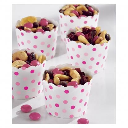 Mini suupistekarbid, roosade täppidega (36 tk.)