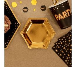 Mini taldrikud, kuldselt läikivad (8 tk./12 cm)