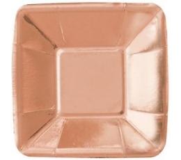 """Mini taldrikud """"Roosakas-kuldsed"""" (8 tk./12 cm)"""