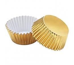 Muffinivormid, fooliumist-kuldsed (45 tk.)