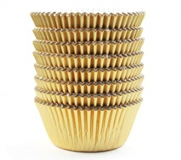 Muffinivormid, fooliumist-kuldsed (45 tk.) 1