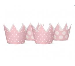 Mütsid, roosa täpilised (4 tk)