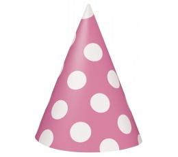 Mütsid, roosad-täppidega (8 tk)