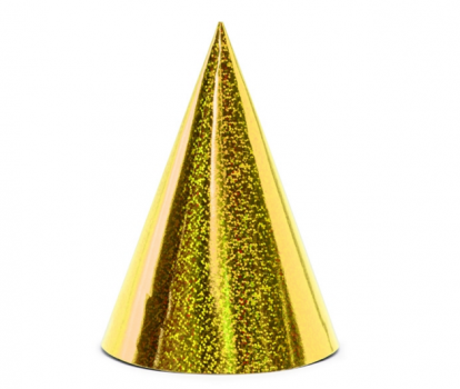 Mütsid, särav-kuldsed (6 vnt.)