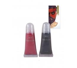 Näomeik, punane-must (2 tk / 11 ml)