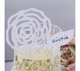"""Nimekaardid pokaalidele """"Valged lilled"""" (10 tk)"""