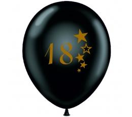 """Õhupall """"18"""", must - kuldsega 30 cm)"""
