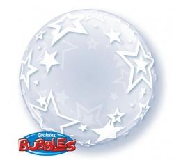 """Õhupall-bubble """"Tähed"""", läbipaistev (60 cm)"""