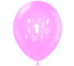 """Õhupall """"Esimene sünnipäev"""", roosa (30 cm)"""