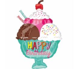 "Õhupall  ""Ice Cream Sundae HBD"" (38x58 cm)"