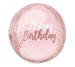 """Õhupall-orbz """"Happy birthday""""  (38 x 40 cm)"""