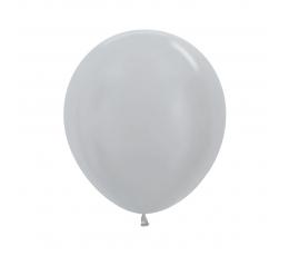 Õhupall, pärlmutter  hõbedane (45 cm)