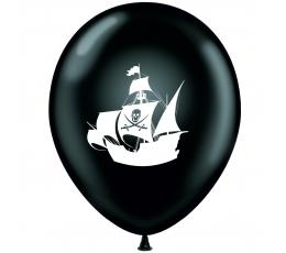 """Õhupall """"Piraadid"""", must-valge (30 cm)"""