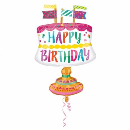 """Õhupall """"Sünnipäevatort"""" (55x76 cm)"""