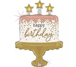 """Õhupall """"Sünnipäevatort"""", holograafiline (84 cm)"""