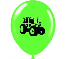 "Õhupall ""Traktor"", salatiroheline-must (30 cm)"