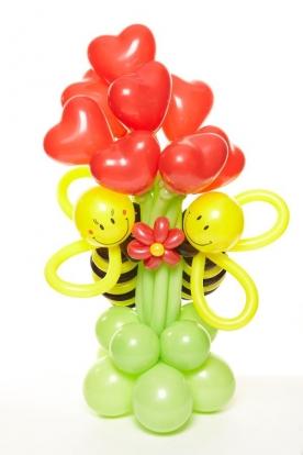 """Õhupallidefiguur """"Mesilased-südamed"""" (5 tk)"""