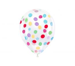 Õhupallid, läbipaistvad, värviliste konfettidega (6 tk / 30 cm)