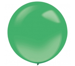 Õhupall, roheline läbipaistev ümmargune (61 cm)