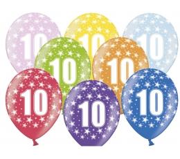 """Õhupallid, värvilised """"10"""" (6 tk / 30 cm))"""