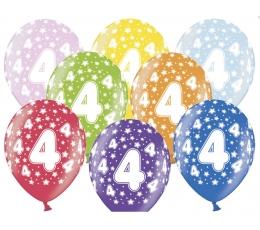 """Õhupallid, värvilised """"4"""" (6 tk / 30 cm)"""