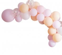"""Õhupallidkaar """"Tee ise"""", virsiku-roosa 1"""