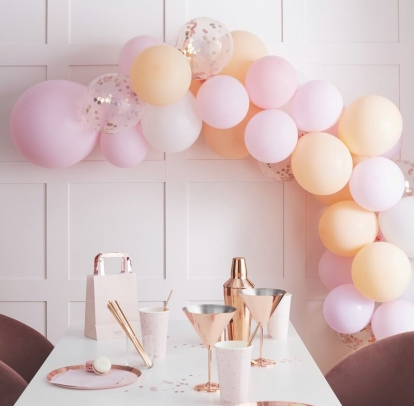 """Õhupallidkaar """"Tee ise"""", virsiku-roosa"""