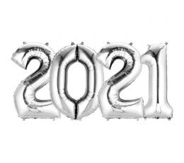 "Õhupallide komplekt ""2021"" (4 tk / 35 cm)"