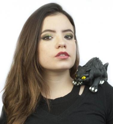 """Õla aksessuaar """"Must kass"""""""