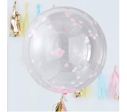 Orbz-õhupallid, läbipaistvad roosade konfettidega (3 tk./91 cm)