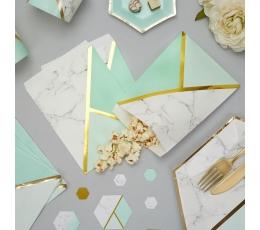 Paberkotid, piparmünt-marmor (25 tk)