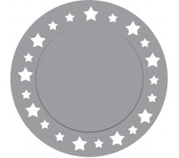 Pappalused, hõbedased tähed (6 tk / 33 cm)