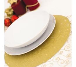 Pappalused, kuldsed läikivad (4 tk / 33 cm)