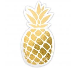 """Papptaldrikud """"Ananassid"""" (6 tk.)"""