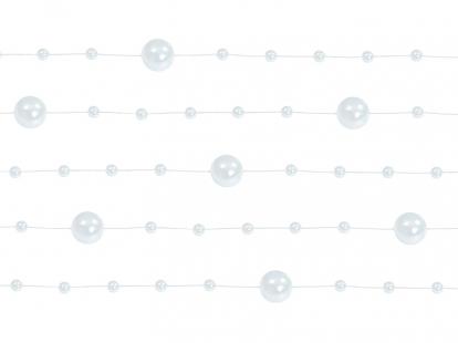 Vanik pärlitega, valge pärlmutter (1,3 m)