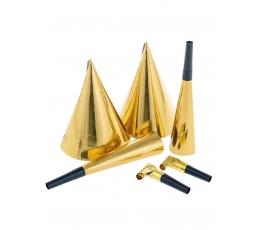 Peokomplekt, kuldne (2-le)